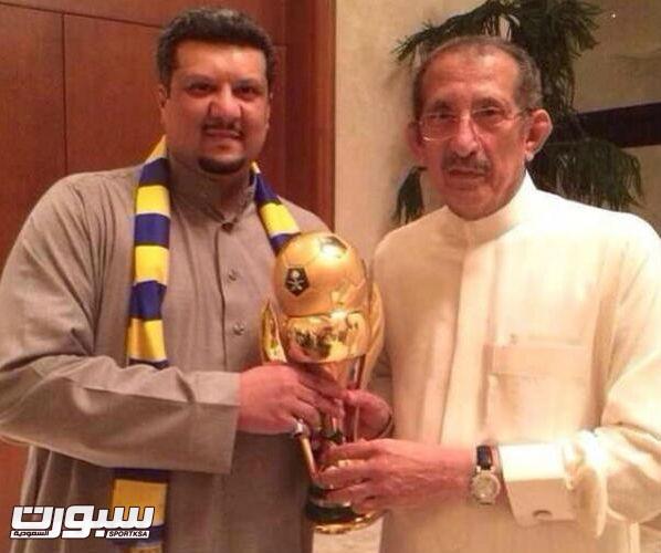 رئيس النصر بجانب والده الامير تركي بن ناصر