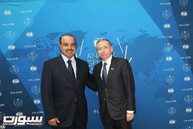 ناصر بن خليفة العطية ورئيس الاتحاد الدولي لسيارات جون تود