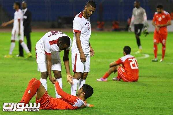 صور من لقاء قطر و البحرين