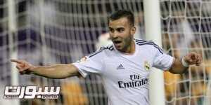 Real Madrid's Spanish striker Jese celebrates after scoring his teams' only goal during their friendly football match against Paris Saint-Germain at the Aspire Academy of Sports Excellence in the Qatari capital Doha on January 2, 2014. Real Madrid won 1-0. AFP PHOTO / MARWAN NAAMANI        (Photo credit should read MARWAN NAAMANI/AFP/Getty Images)