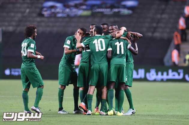 فرحة المنتخب السعودي