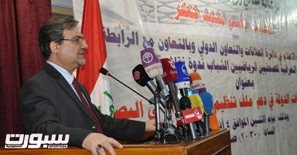 وزير الرياضة العراقي جاسم جعفر